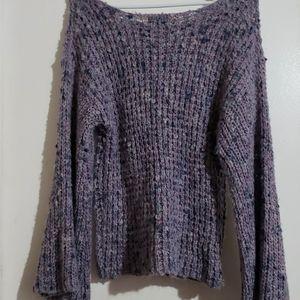 Lavender & Turquoise - •F21• | Boho Knit Sweater